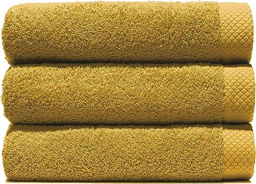 Lasa Juego Toallas, algodón 100%, Oro, Ducha (70 x 140 cm), Lavabo ...
