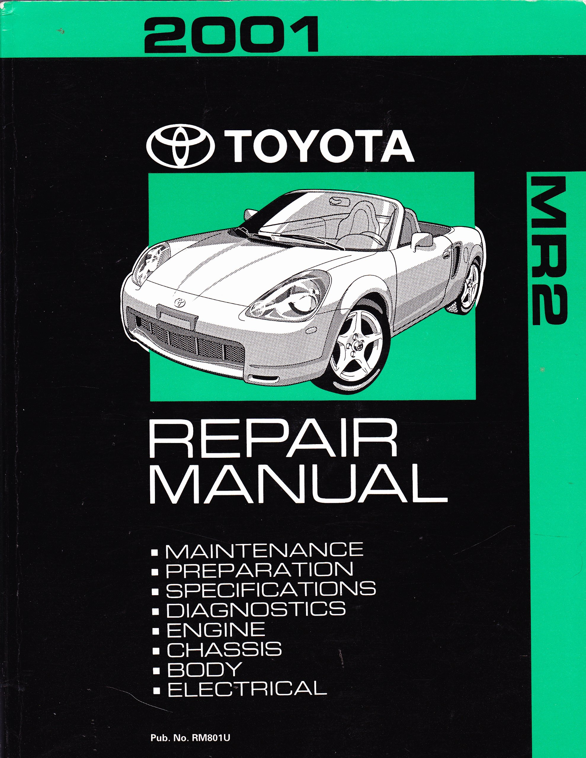 2001 toyota mr2 repair manual toyota amazon com books rh amazon com toyota  mr2 spyder repair manual toyota mr2 spyder owners manual