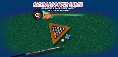 mesa de billar pool ilimitado torneo 8-ball: golpear la pelota ...