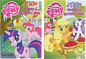 Bendon Publishing International Set of 2 My Little Pony Jumbo Coloring Books - Tear and Share - 96 Pages - Coloring and Activity Book Perfect for Any My Little Pony Fan!