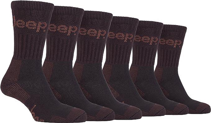 für Arbeitsschuhe gepolstert warme Socken Arbeitssocken für Herren 4 Paar