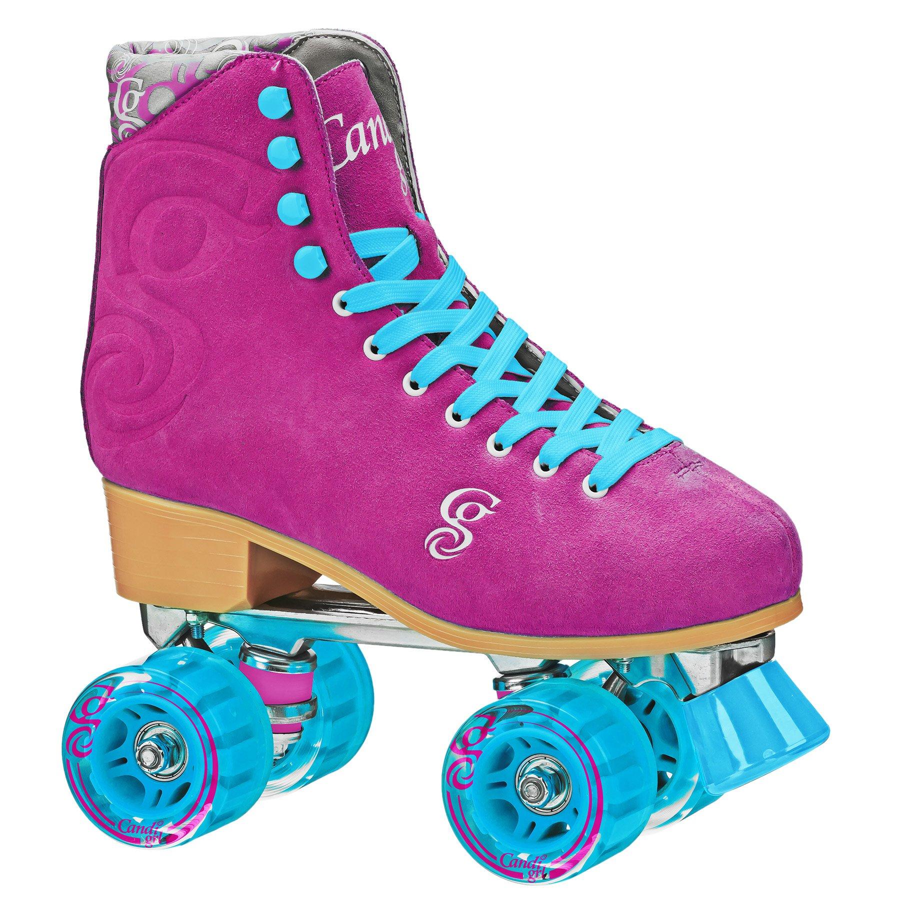 Roller Derby Candi Girl U774 Carlin Quad Artistic Roller Skates Raspberry Ladies sz 4