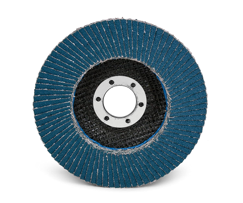 4-1//2 Diameter 4-1//2 Diameter 051141553689 80 Grit 3M Flap Disc 566A T27 Pack of 10