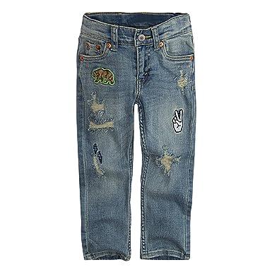 b9e7d747 Amazon.com: Levi's Boys' 511 Slim Fit Distressed Jeans: Clothing