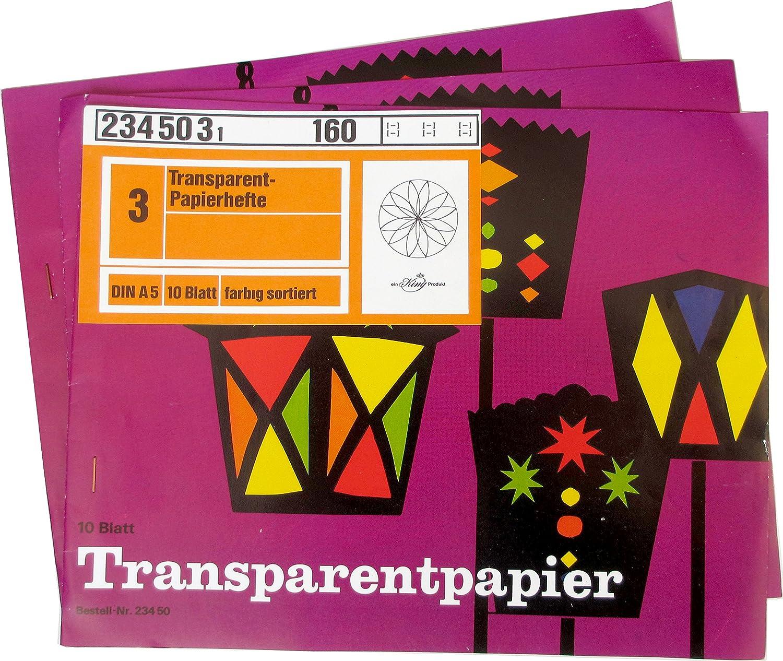 farbig Sortiert Ursus Transparentpapier