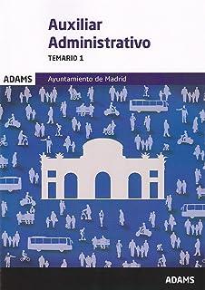 Temario Auxiliares Administrativos de la Comunidad de Madrid ...