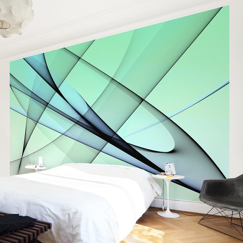 Apalis Vliestapete Evolution Fototapete Breit | Vlies Tapete Wandtapete Wandbild Foto 3D Fototapete für Schlafzimmer Wohnzimmer Küche | blau, 94908