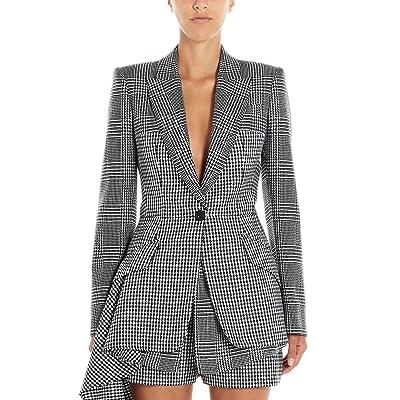Alexander McQueen Luxury Fashion Mujer 585976QJAAH1080 Blanco Blazer   Otoño-Invierno 19: Ropa y accesorios