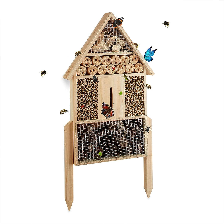 Insektenhotel Groß - Relaxdays Insektenhotel L stehend