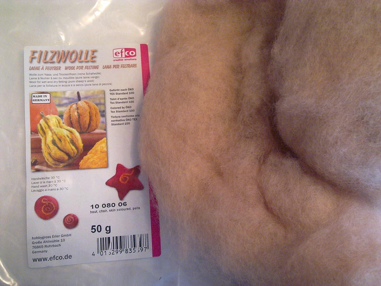 Skin Coloured EFCO 50 g Wool for Felting