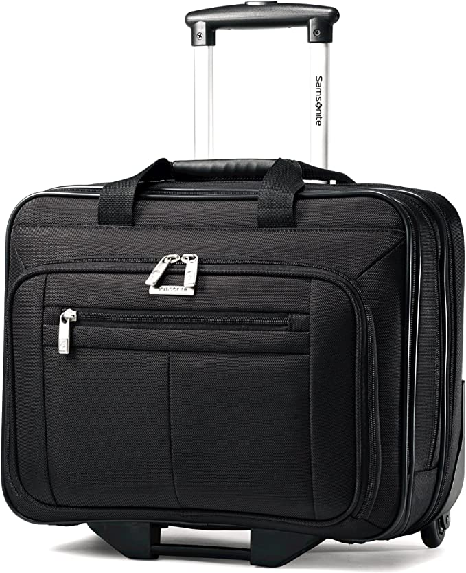 Black 16-1//2 x 8 x 13-1//4 Wheeled Business Case