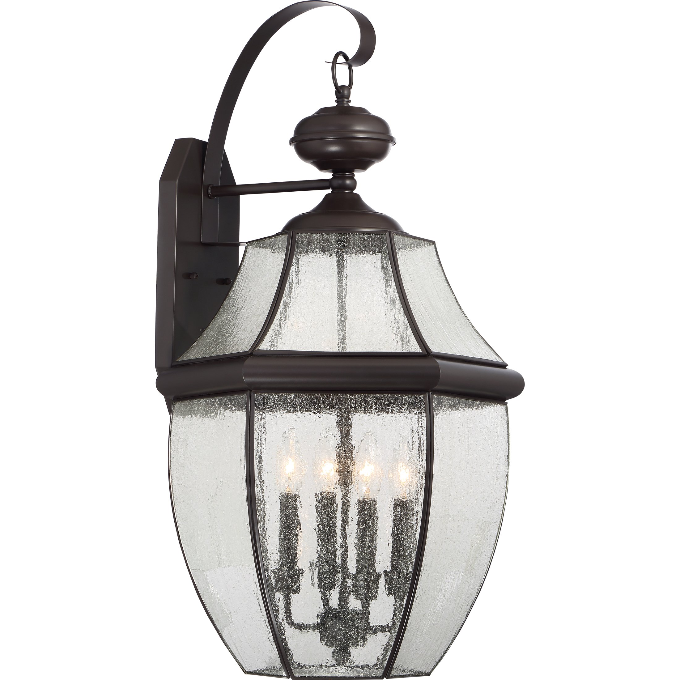 Quoizel NY8416Z 4-Light Newbury Outdoor Lantern in Medici Bronze by Quoizel