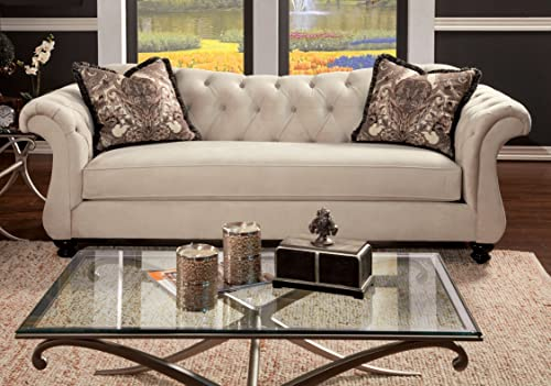 Furniture of America Ivorah Glamorous Sofa