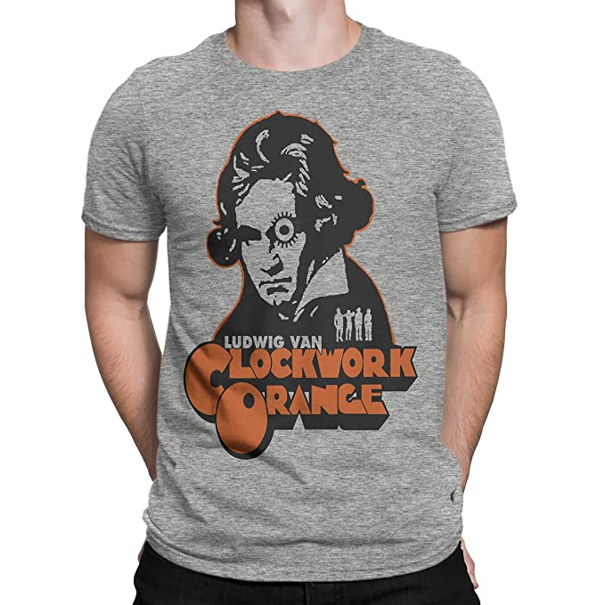 Amazon.com: playera A clockwork orange, M, gris: Clothing