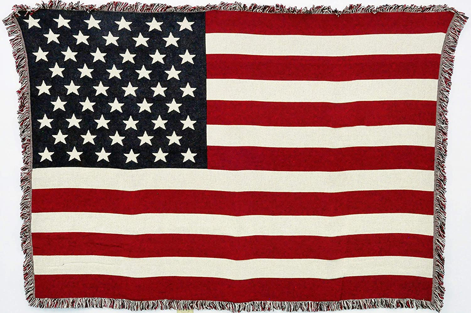 "Patriotic 4th of July Vintage Americana Throw Cotton  50/"" x 60/"""