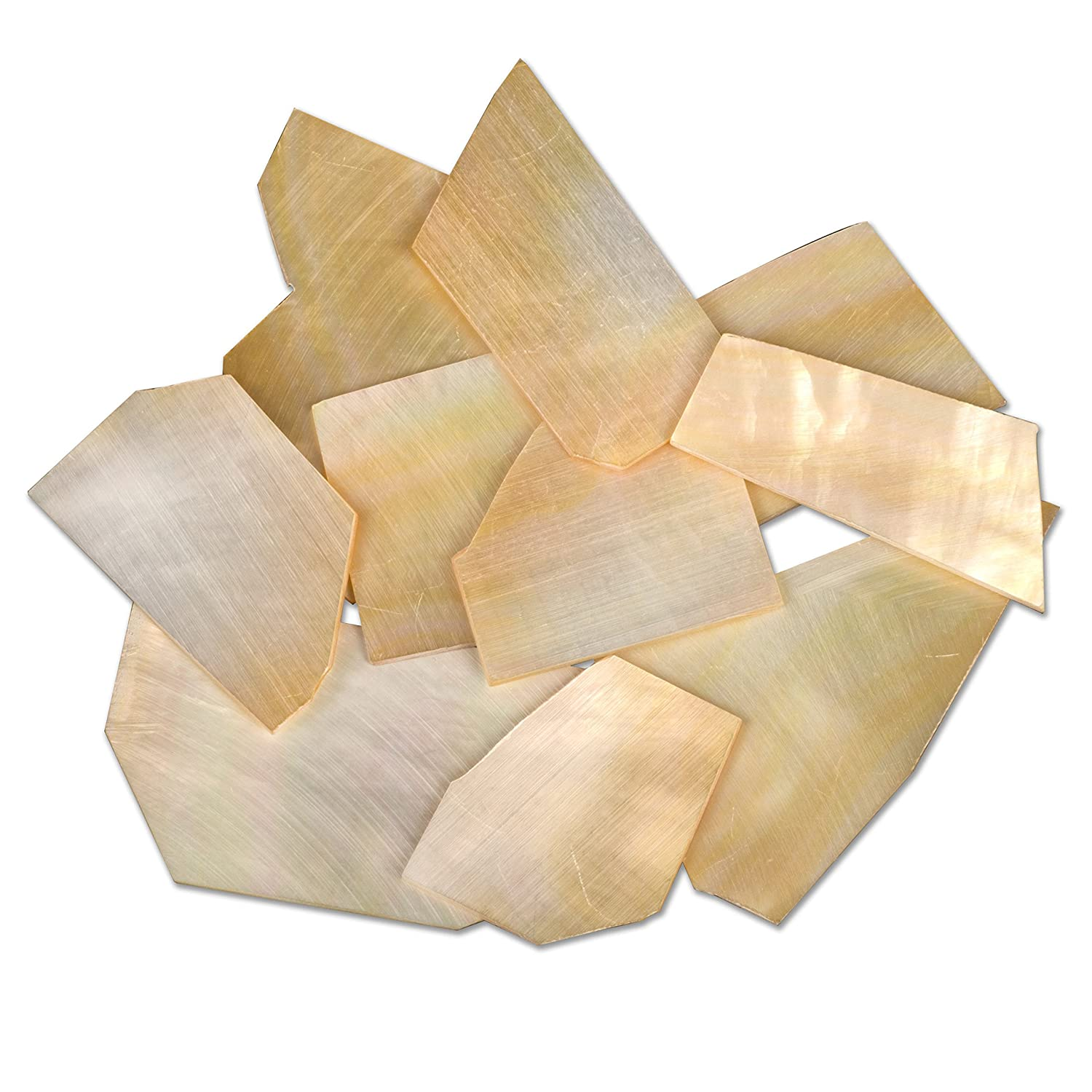 StewMac Pearl Inlay Blanks - 1oz Pack, Gold mother-of-pearl #AN4451