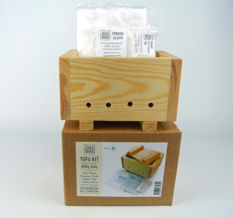 Kit para hacer tofu. Corte Regular, hace aproximadamente 500 g de tofu. Hecho a mano en Londres.: Amazon.es: Hogar