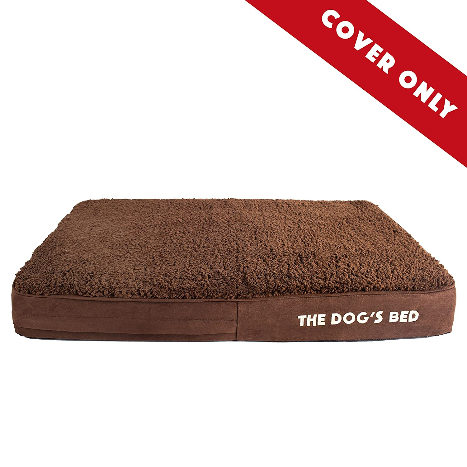 Brown Plush Medium Cover Brown Plush Medium Cover Replacement Outer Cover ONLY (Outer Cover ONLY NO Bed, NO Waterproof Inner) for The Dog's Bed, Washable Quality Plush Fabric, Medium 34  x 22  x 4  (Brown Plush)