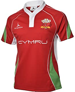 bf1fcefe156 Welsh Rugby Supporters Shirt Red Home Jersey S-XXXXL Olorun Wales Rugby  Shirt