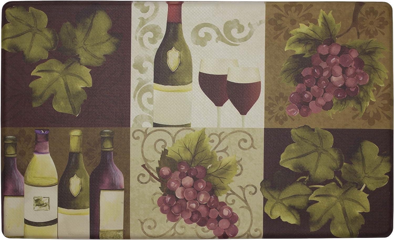 Chef Gear Wellness Wine Anti-Fatigue Comfort Memory Foam Kitchen Chef Mat, 18 x 30