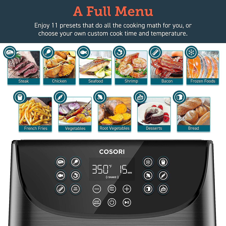 COSORI 5.8QT Electric Hot Air Fryers Oven - A Full Menu