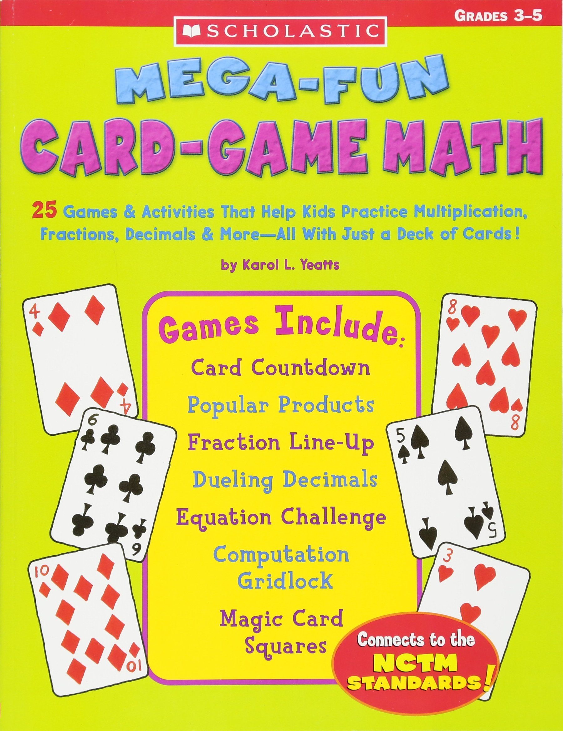 Mega Fun Card Game Math Grades 3 5 product image