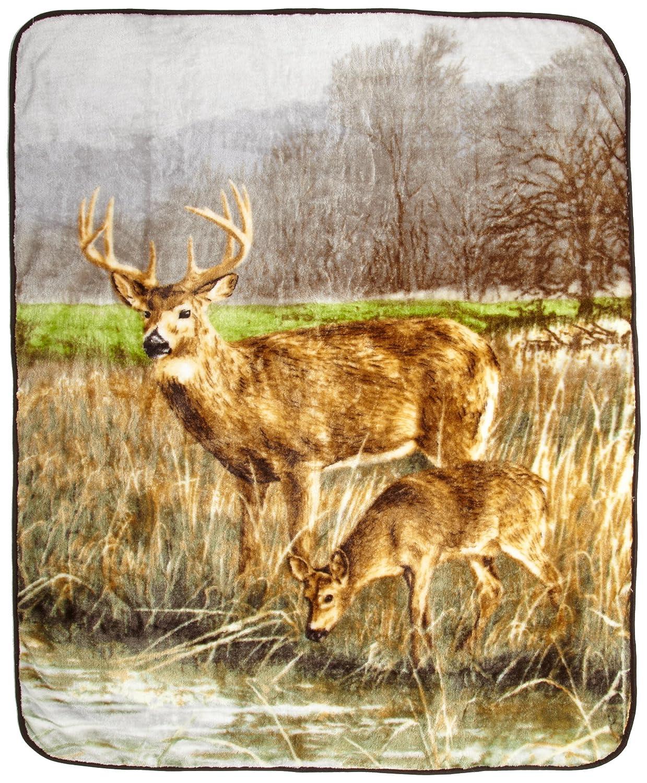 Whitetail Deer Reversible Snug Animal Blanket