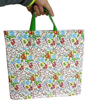 Amazon.com: 50pcs mercancía bolsas con asas con refuerzo ...