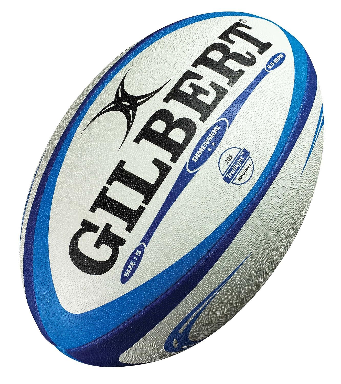 Gilbert Dimension - Balón de Rugby Azul Talla:5: Amazon.es ...