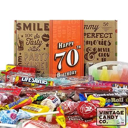 Caja de regalo de cumpleaños retro de 70 cumpleaños con ...