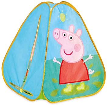 separation shoes b12ad 4a9db Peppa Pig KidActive Pop Up Playhouse Play Tent - Indoor or Outdoor Portable  Play - Peppa Pig and George