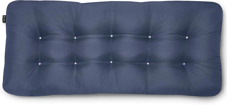 Classic Accessories Water-Resistant Indoor/Outdoor Bench Cushion, 48 x 18 x 5 Inch, Navy
