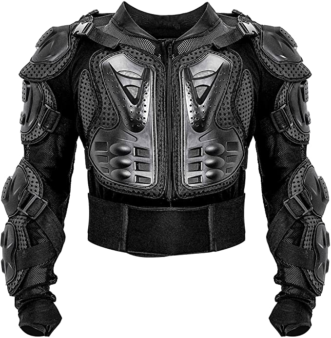 Oeyal Motorcycle Full Body Armor Jacket Sport Motocross ATV Guard Jacket Full Body Armor Protector for Men Small, Black