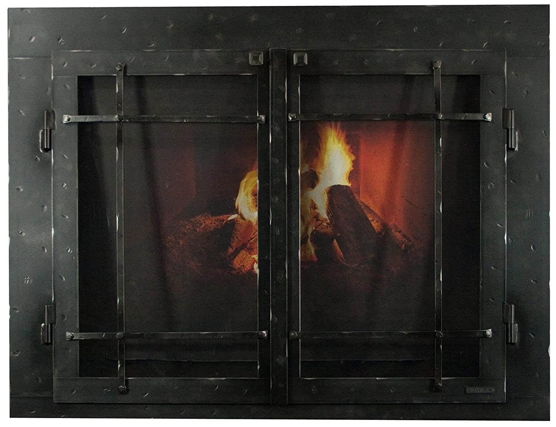 Amazon Com Ironhaus Msd4 Hnt 4732 Iron Fireplace Glass Door With