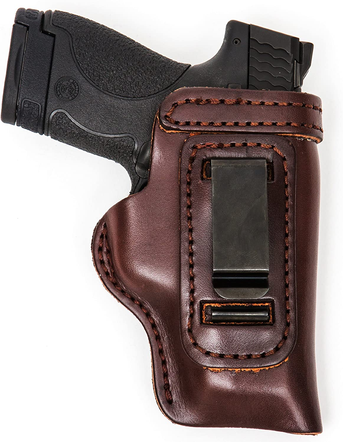 Pro Carry S&W M&P Sub Compact HD CCW Leather IWB Gun Holster Brown