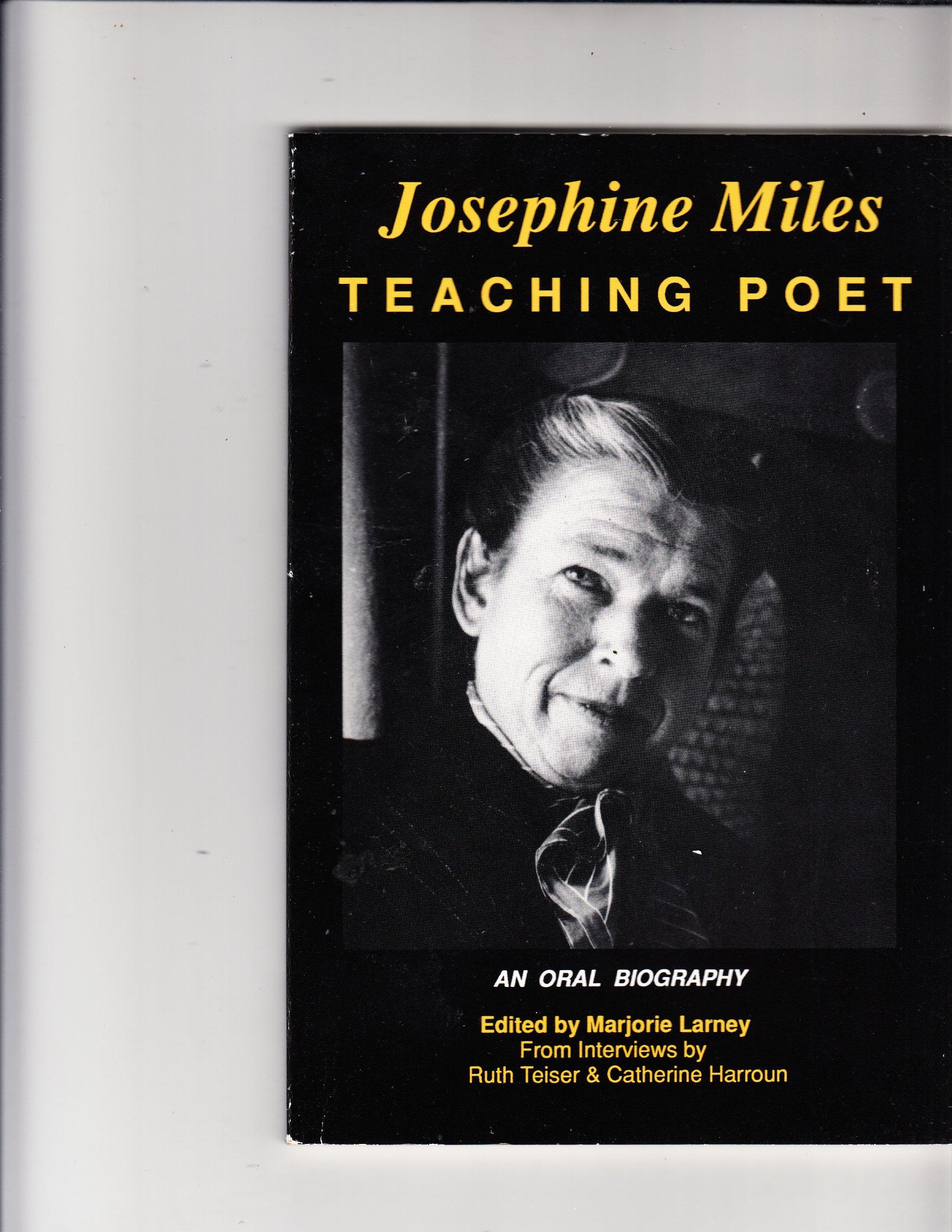 Josephine Miles poet