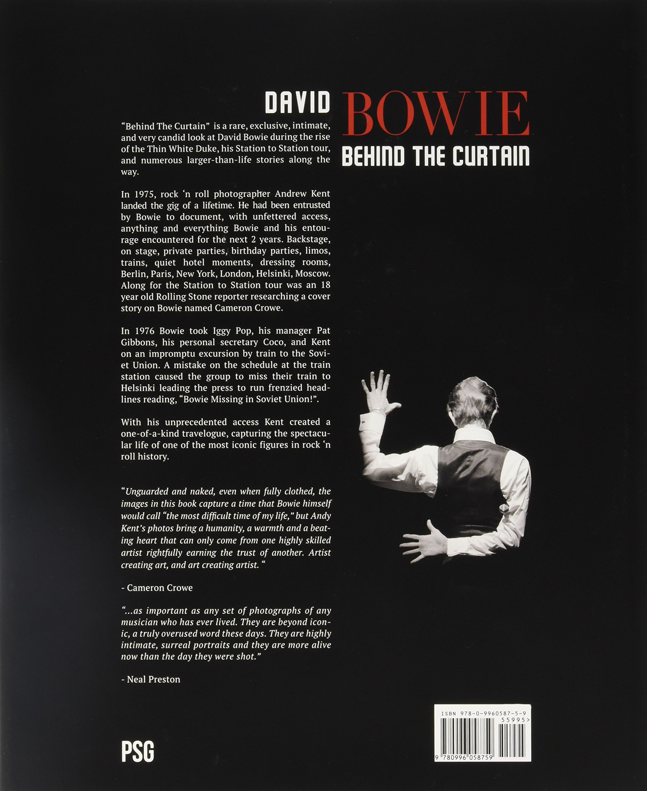 Curtain behind the curtain book - Amazon Com David Bowie Behind The Curtain 9780996058759 Andrew Kent Books