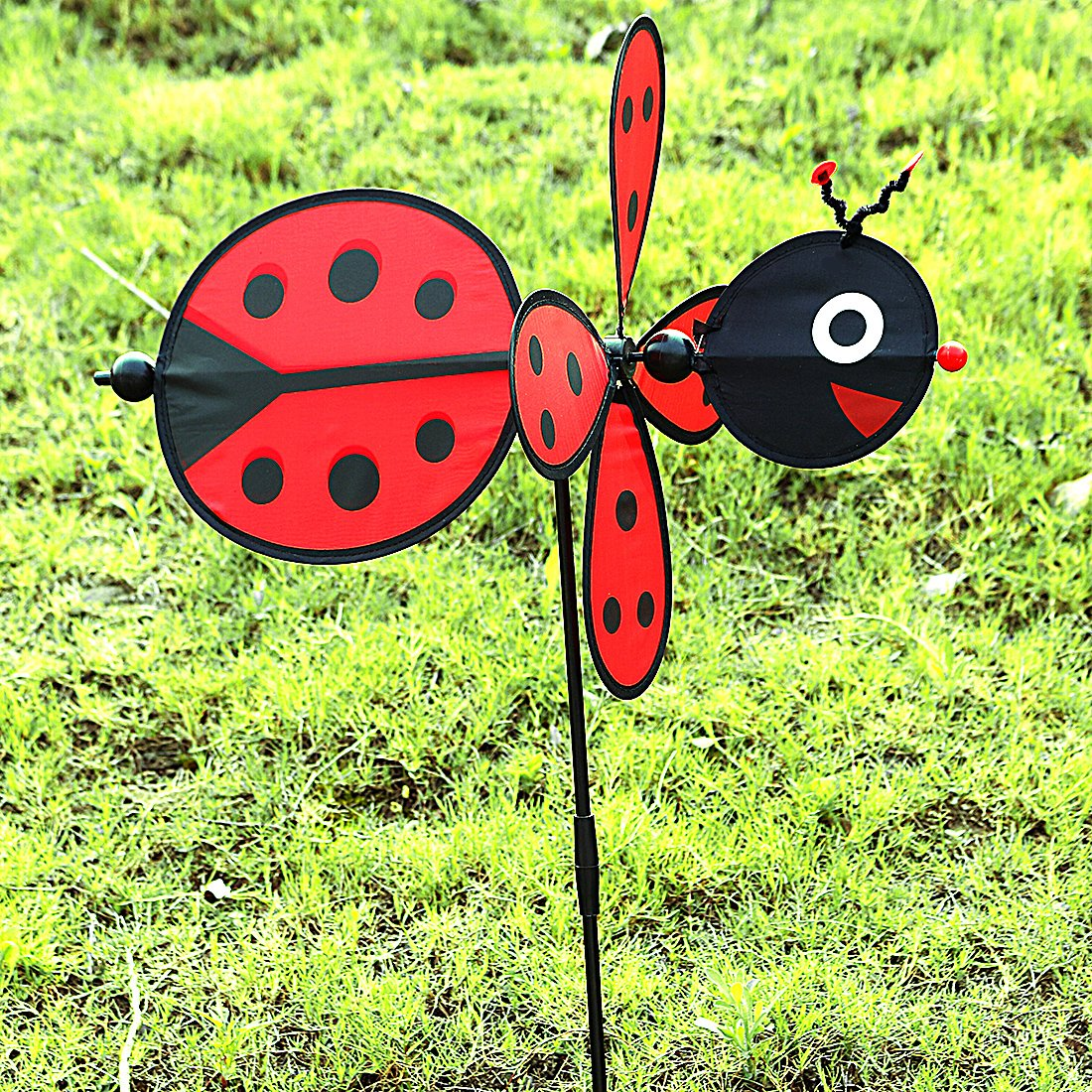 Amazon.com: Ladybug Wind Spinner,Fun Spinner for your Flower Pot\'s ...