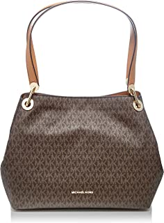 019e298b2f6 Amazon.com  Michael Kors Raven Large Leather Shoulder Bag - Acorn  Shoes