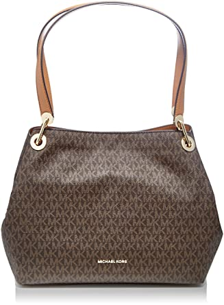 e0ba00fabbea michael michael kors large shoulder tote brown: Amazon.in: Clothing ...