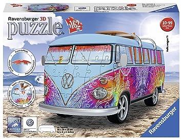 Ravensburger Puzzle 3D Furgoneta Volkswagen Summer 162 Piezasz, Color carbón (12527): Amazon.es: Juguetes y juegos