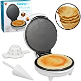 Waffle Cone and Bowl Maker- Homemade Ice Cream Wafflecones & Bowls in Minutes - with Roller and Bowl Press- Great Father's Da