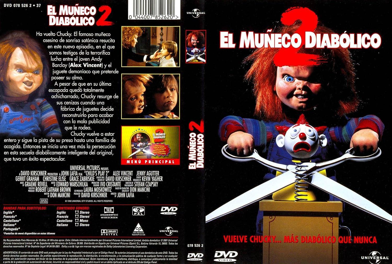 El Muñeco Diabolico 2 Dvd Amazon Es Alex Vincent Christine Elise Jenny Agutter Gerrit Graham John Lafia Cine Y Series Tv