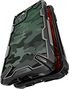 Ringke Fusion-X Compatible with iPhone 11 Pro Case, Semi-Transparent 3D Pattern Textured with Military Grade Drop Protection Cover - Camo Black