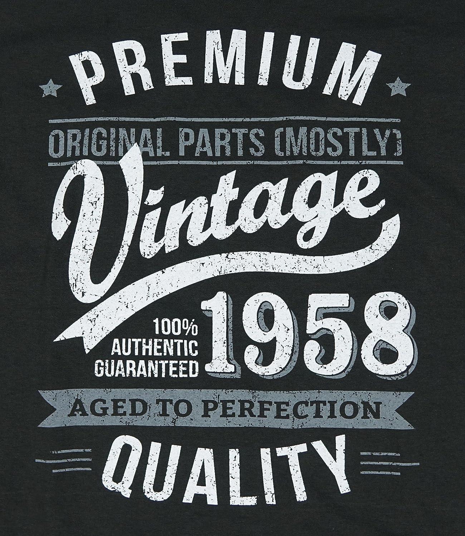 My Generation Gifts 1958 Vintage Year - Aged to Perfection - 60 Cumpleaños Años - Regalo de Cumpleaños Camiseta para Hombre: Amazon.es: Ropa y accesorios