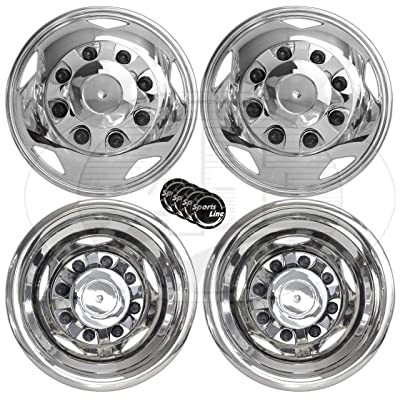 A+ 17 Inch Stainless Steel Dually Wheel Simulator Set for 2011 Current GM/Chevy 3500HD: Automotive
