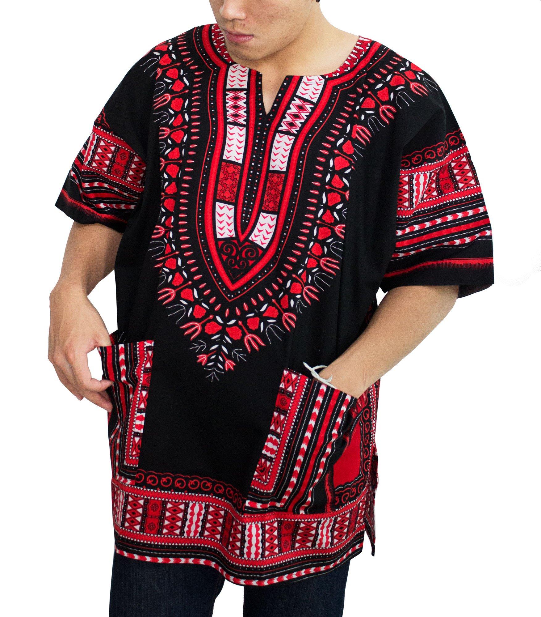 African Men Shirt, Dashiki Clothing For Women Shirts (X-Large).