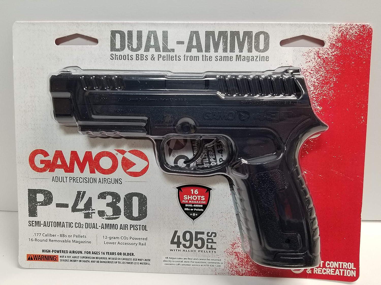 Gamo P-430 Semi-Auto Dual Ammo CO2 Air Pistol 495 FPS 16 Shot Mag New Sealed