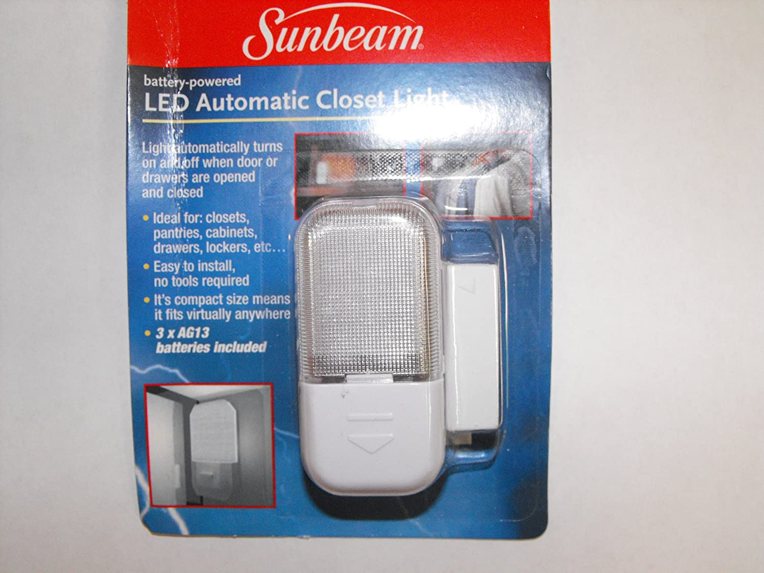 Sunbeam LED Automatic Closet Light   Led Household Light Bulbs   Amazon.com