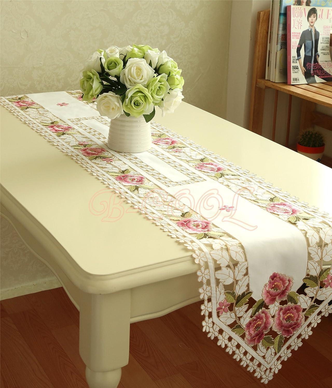 Día de Año Nuevo bordado camino de mesa rectangular tapetes para ...